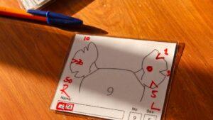 Ear notch cards for rhinos